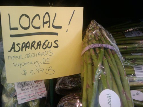 local asparagus - janssens market